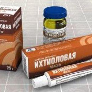 Лікування ихтиоловой маззю